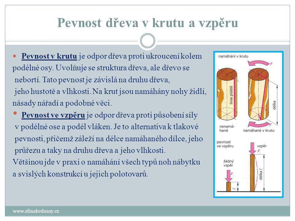 Štípatelnost dřeva www.zlinskedumy.cz Štípatelnost je to schopnost dřeva klást odpor proti vnikání cizího tělesa do dřeva( např.
