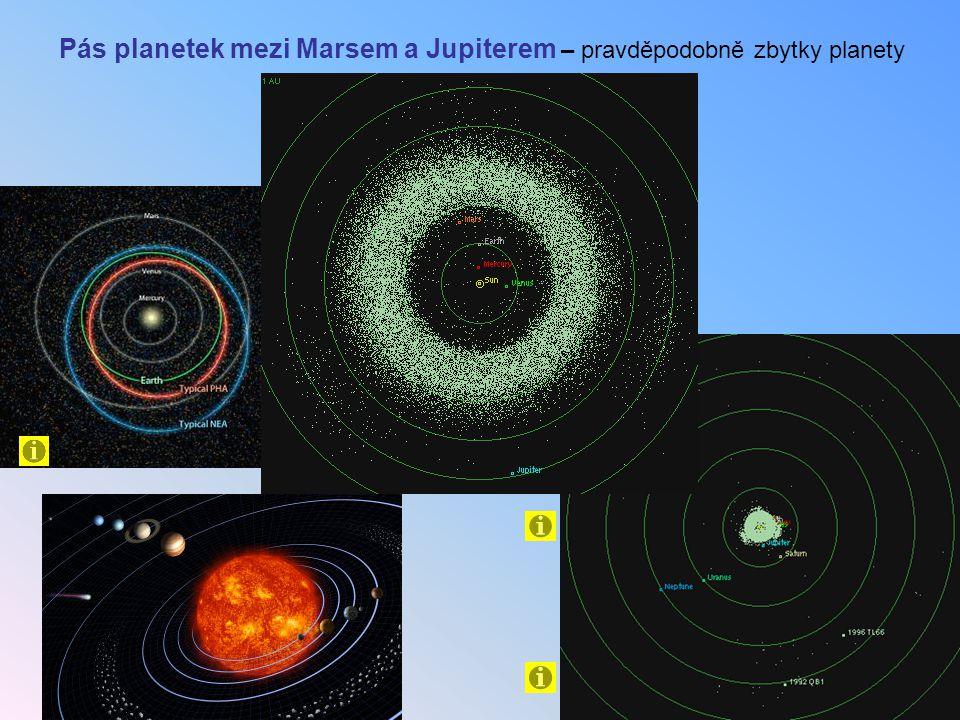 Pás planetek mezi Marsem a Jupiterem – pravděpodobně zbytky planety