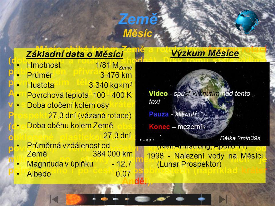 Země Země je třetí planetou v pořadí od Slunce. Je největší z planet zemského typu. Je jedinou planetou v celém Vesmíru, o které víme, že na ní existu