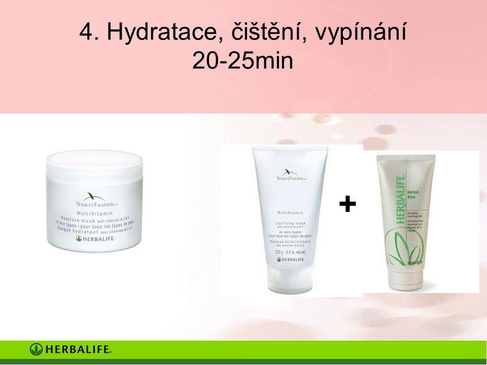 4. Hydratace, čištění, vypínání 20-25min +