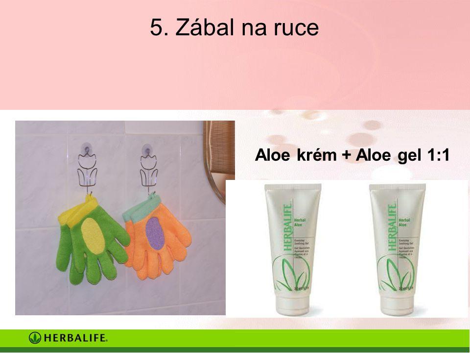 5. Zábal na ruce Aloe krém + Aloe gel 1:1