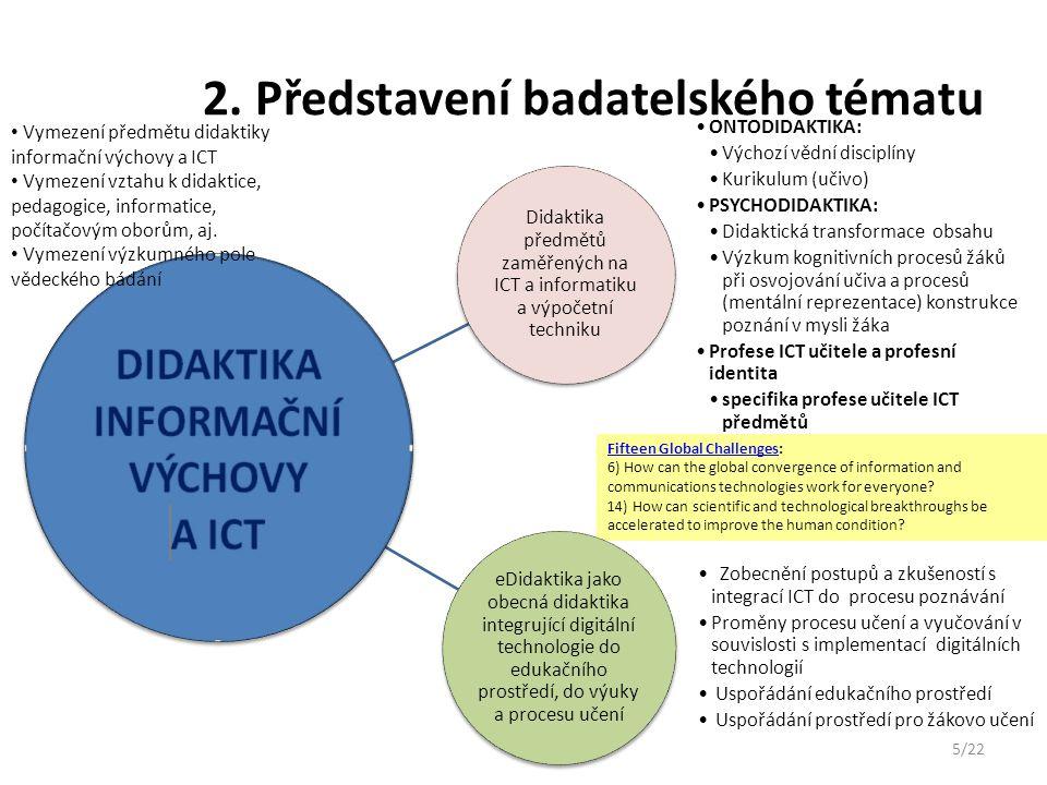3.Současný stav poznání v oblasti badatelského zaměření týmu Zvaní experti: M.