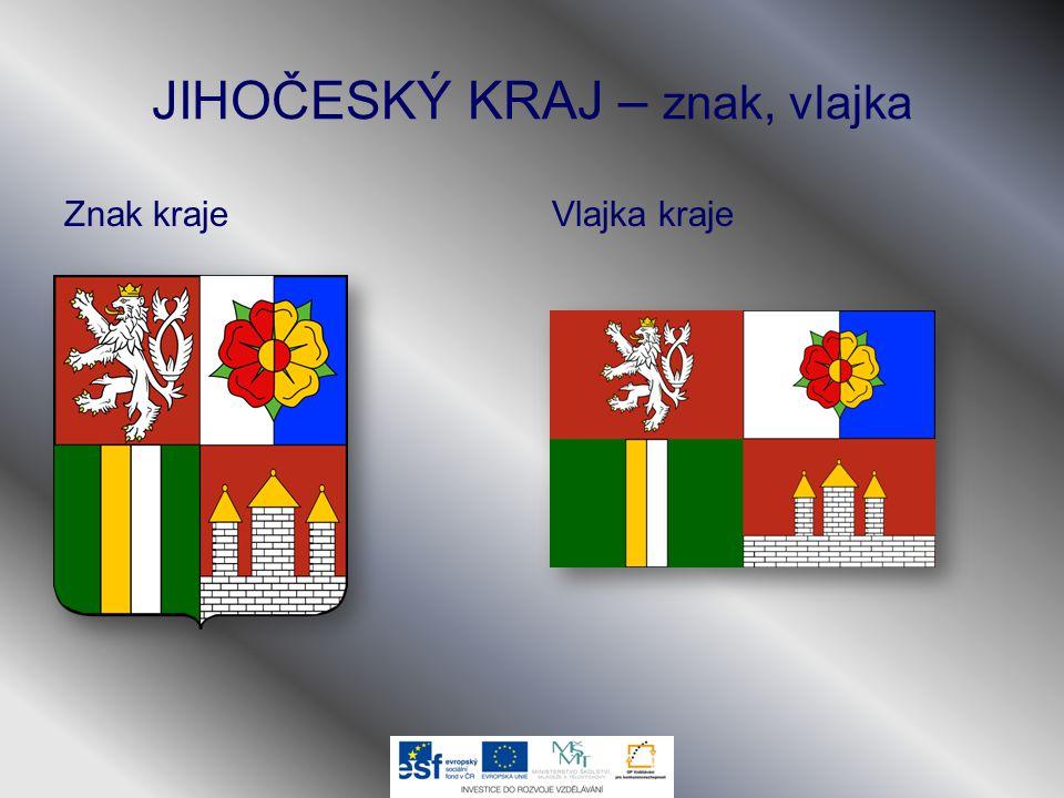 JIHOČESKÝ KRAJ – znak, vlajka Znak krajeVlajka kraje