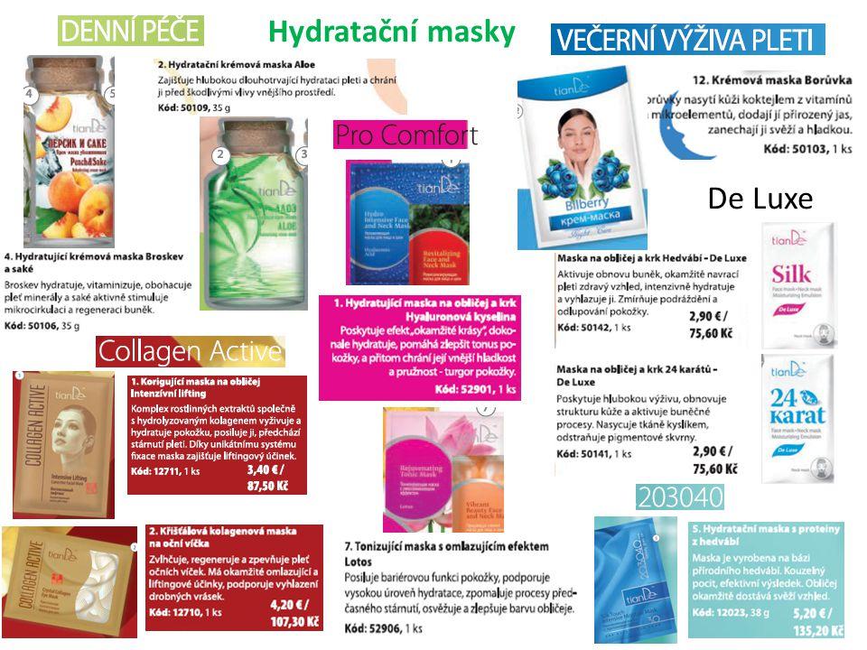 Hydratační masky De Luxe