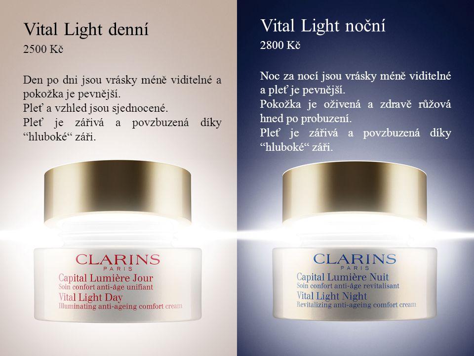Vital Light denní 2500 Kč Den po dni jsou vrásky méně viditelné a pokožka je pevnější.