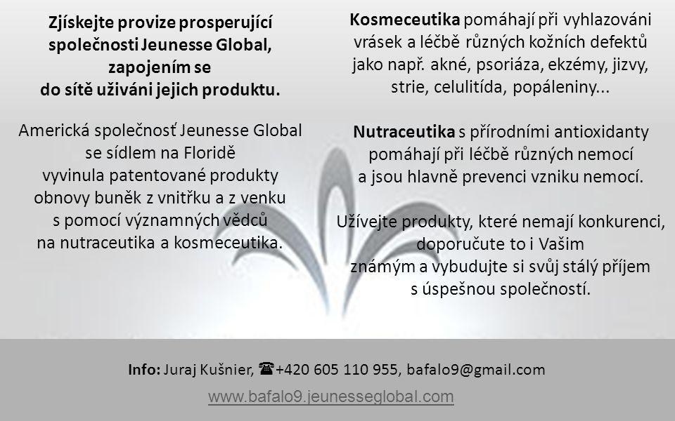 Zjískejte provize prosperující společnosti Jeunesse Global, zapojením se do sítě uživáni jejich produktu.