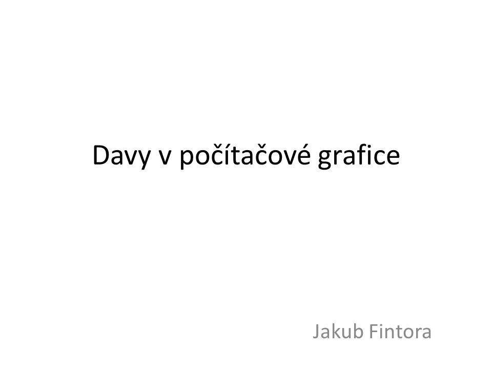 Davy v počítačové grafice Jakub Fintora