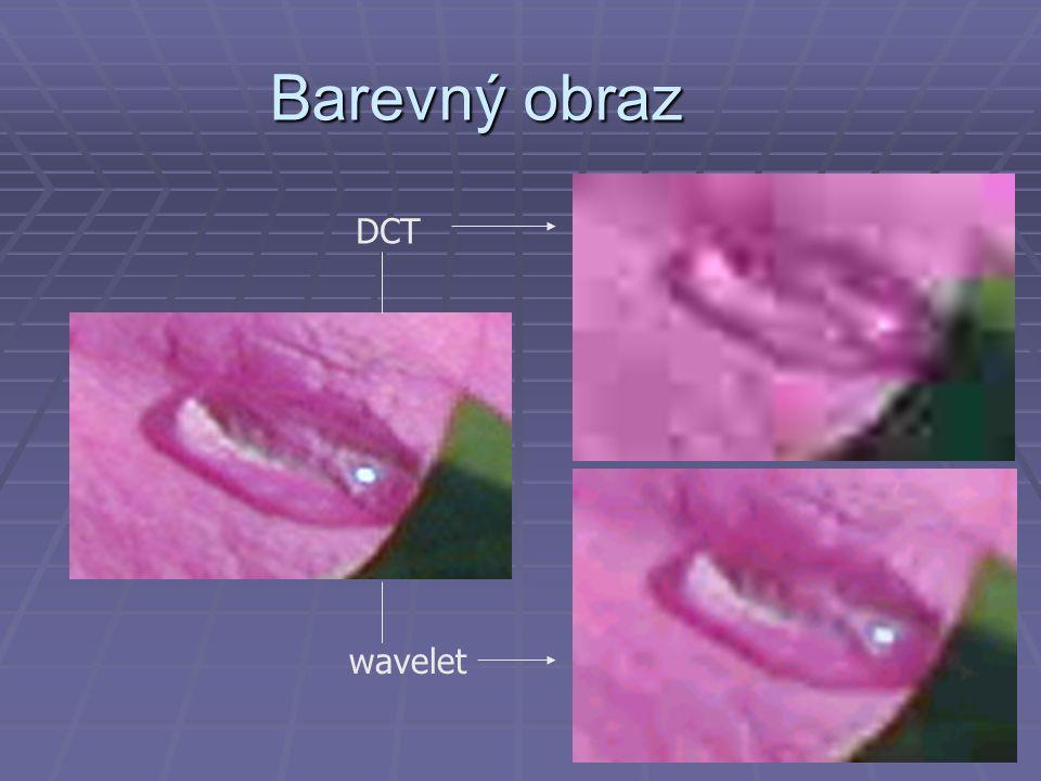 Barevný obraz DCT wavelet