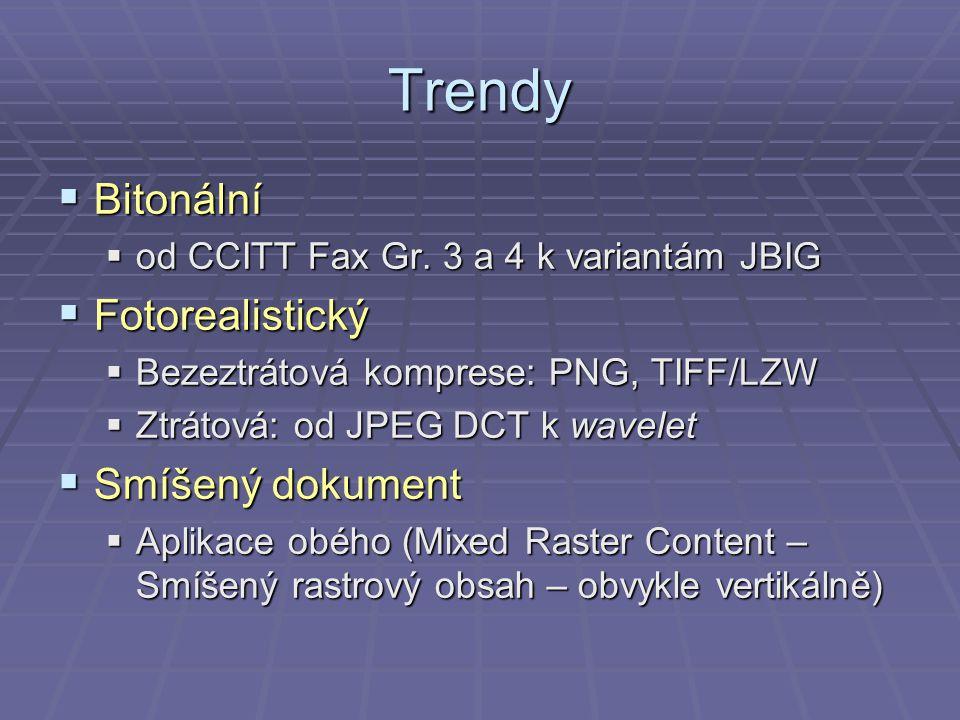 Trendy  Bitonální  od CCITT Fax Gr.