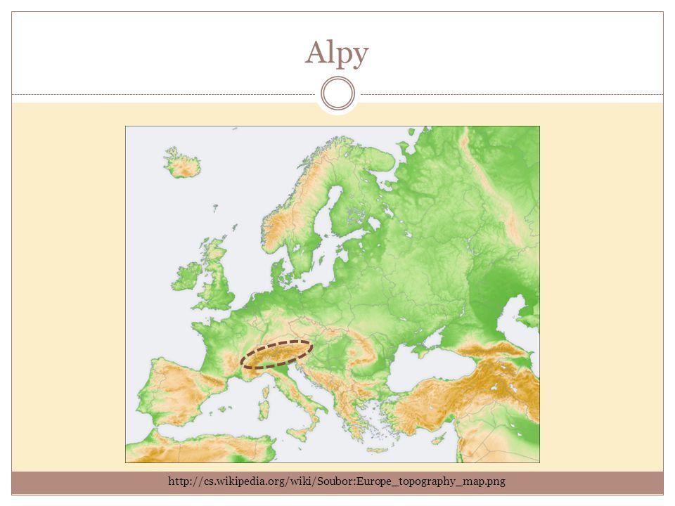 V prezentaci byly použity zdroje z těchto internetových stránek: http://cs.wikipedia.org http://upload.wikimedia.org http://cs.wikipedia.org/wiki/Soubor:Europe_topography_map.png