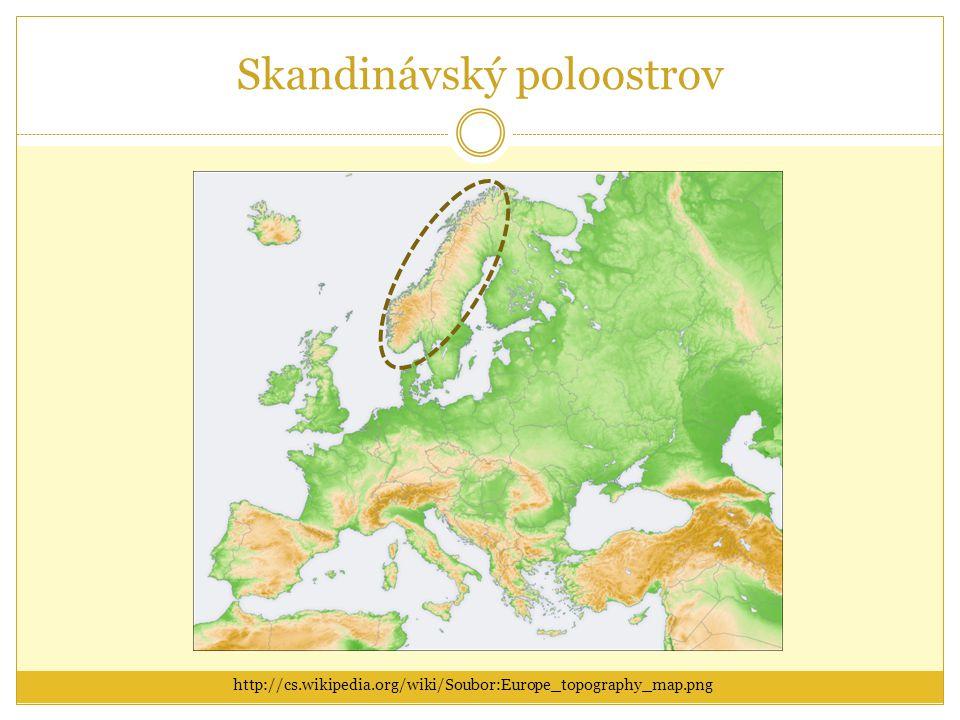 Skandinávský poloostrov http://cs.wikipedia.org/wiki/Soubor:Europe_topography_map.png