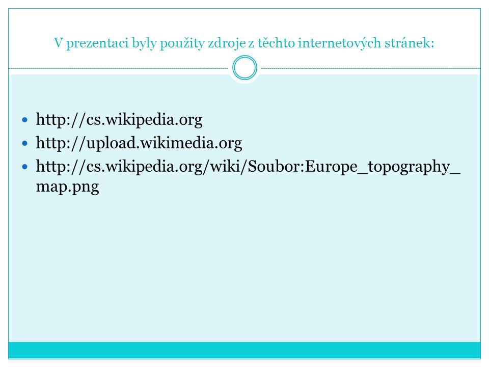 V prezentaci byly použity zdroje z těchto internetových stránek: http://cs.wikipedia.org http://upload.wikimedia.org http://cs.wikipedia.org/wiki/Soub