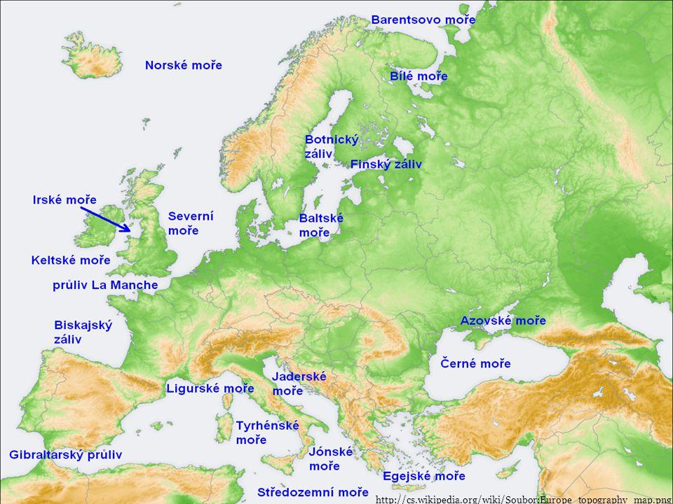 Středozemní moře http://cs.wikipedia.org/wiki/Soubor:Europe_topography_map.png
