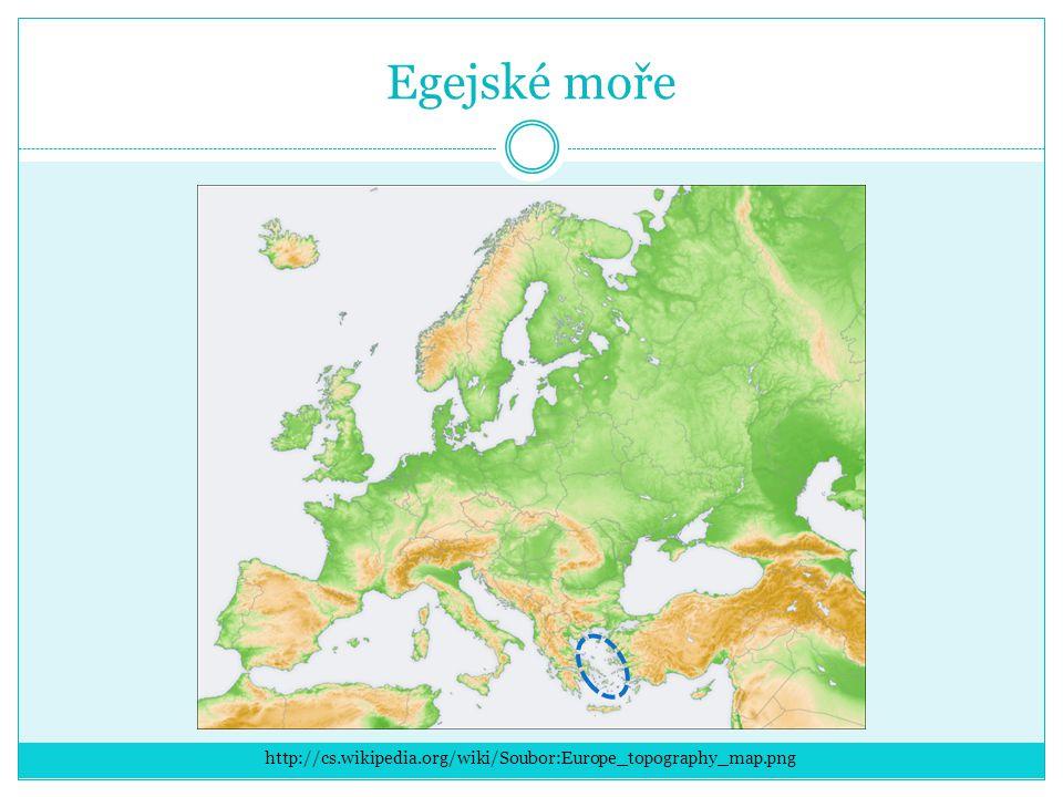 Egejské moře http://cs.wikipedia.org/wiki/Soubor:Europe_topography_map.png