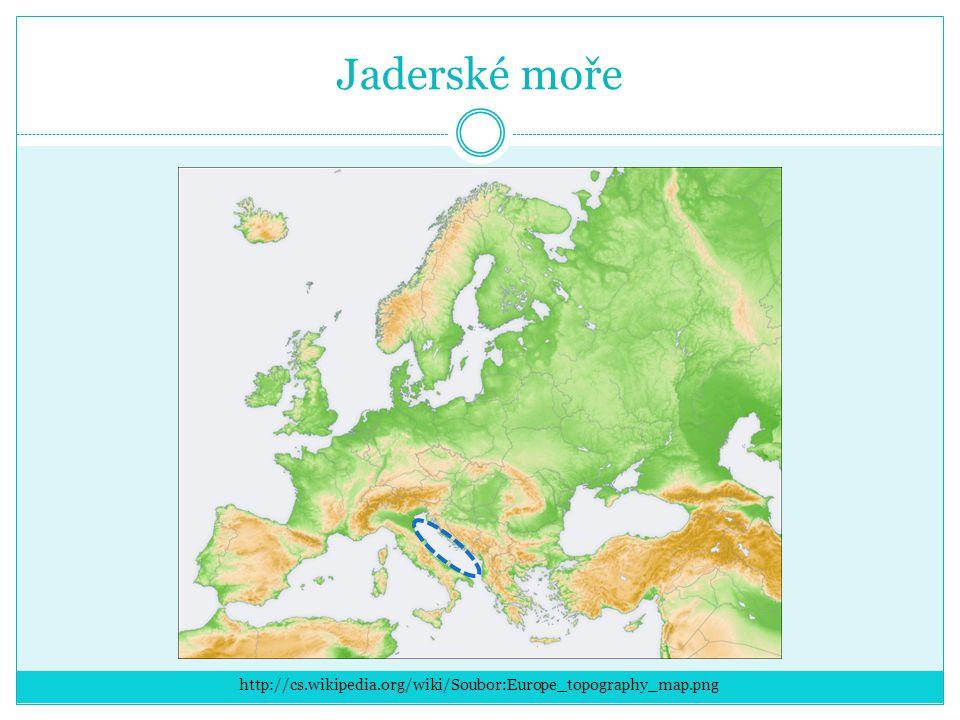 Jónské moře http://cs.wikipedia.org/wiki/Soubor:Europe_topography_map.png