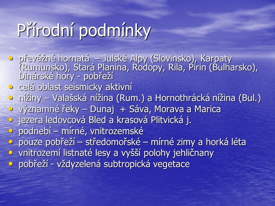 Triglav, Dunaj, Železná vrata, Bled, Plitvická jezera