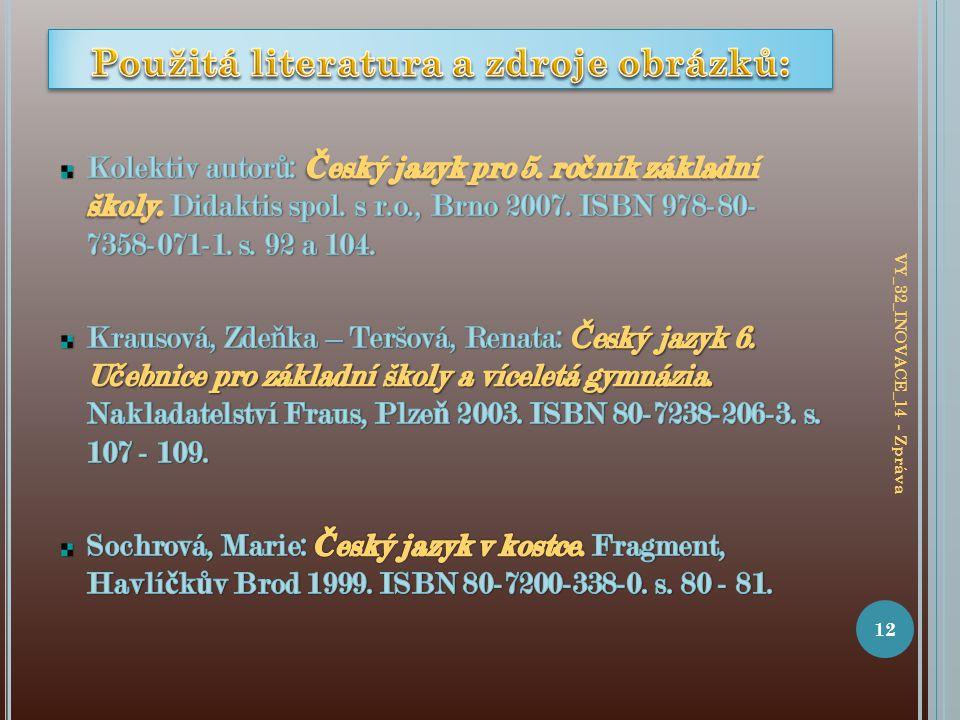 12 VY_32_INOVACE_14 - Zpráva