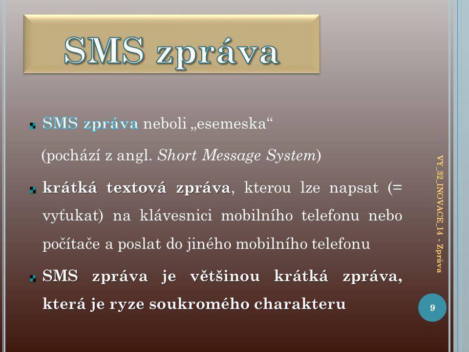 9 VY_32_INOVACE_14 - Zpráva