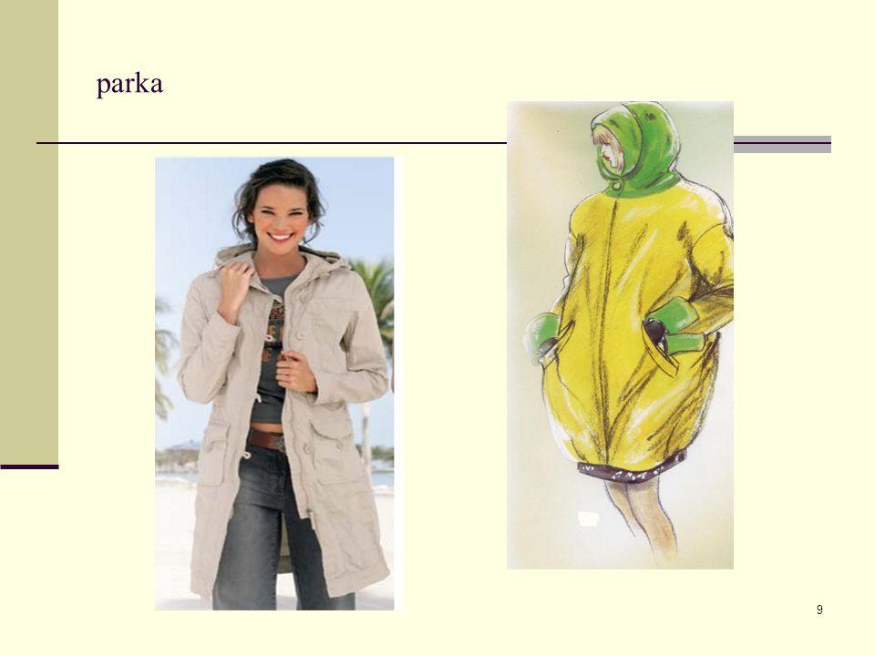 10 Ukázka oděvu v linii O aktuální módní trendy parka