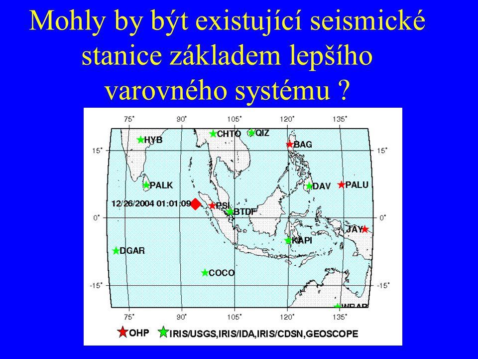 Mohly by být existující seismické stanice základem lepšího varovného systému ?