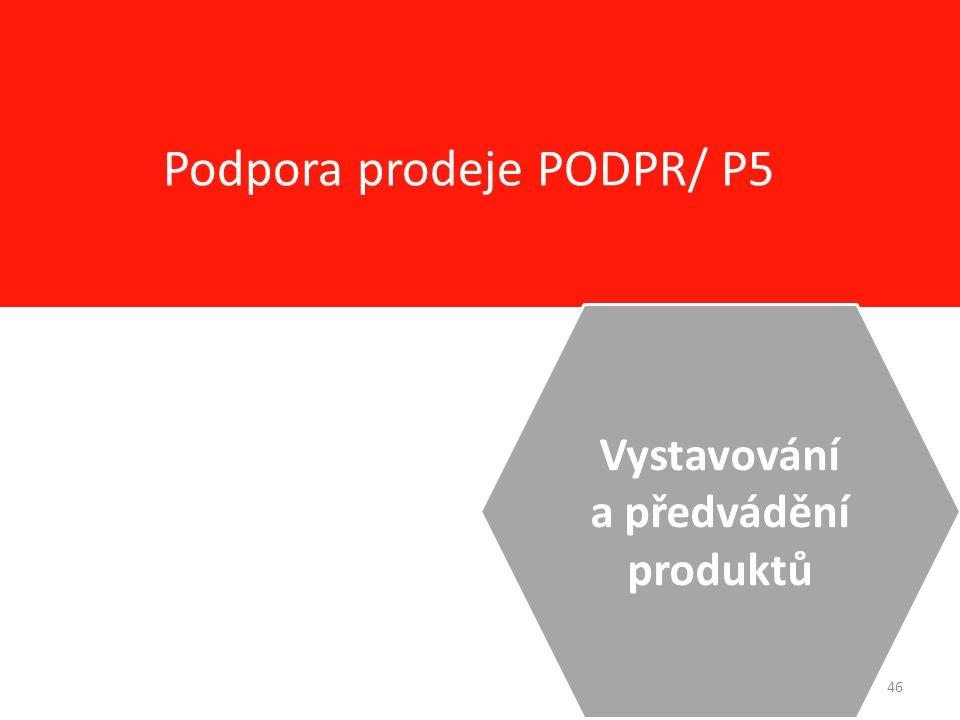 46 Podpora prodeje PODPR/ P5 Vystavování a předvádění produktů