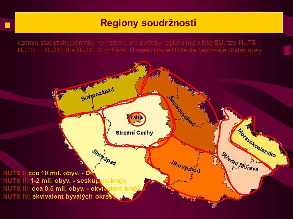 Regiony soudržnosti ú zemn í statistick é jednotky, vymezen é pro potřeby region á ln í politiky EU, tzv.