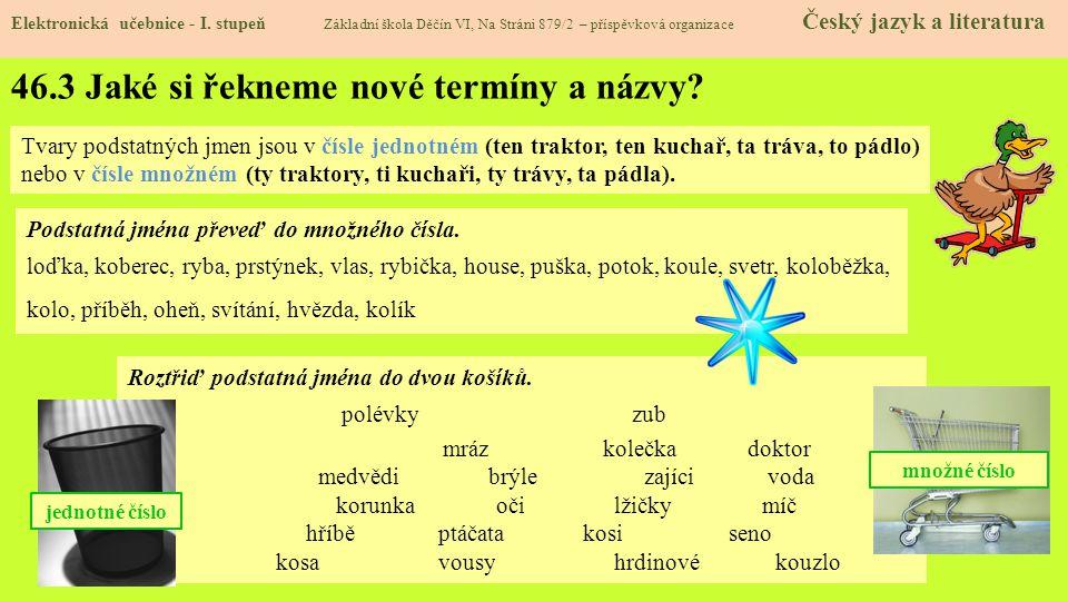 46.3 Jaké si řekneme nové termíny a názvy.Elektronická učebnice - I.