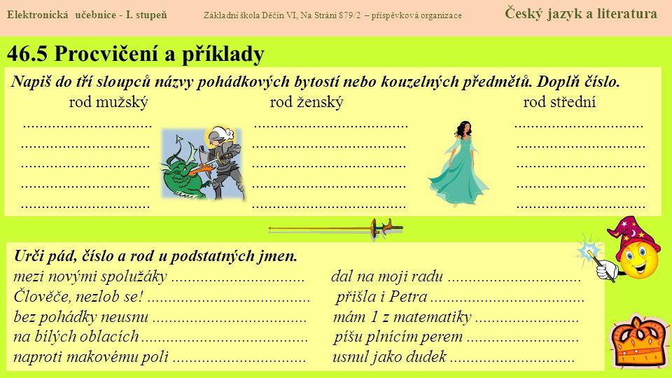 46.5 Procvičení a příklady Elektronická učebnice - I.