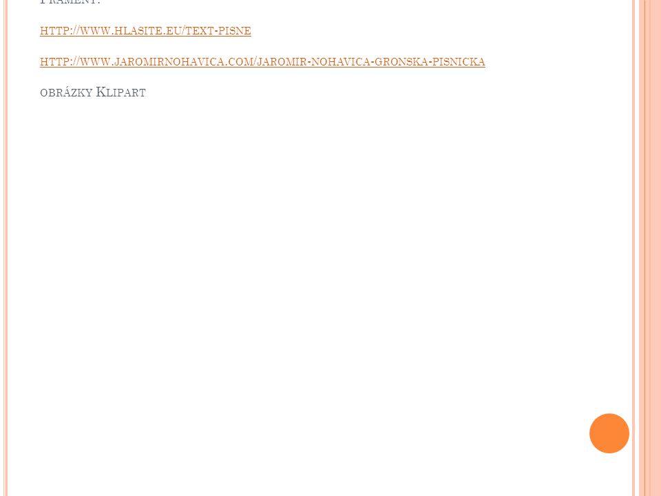 P RAMENY : HTTP :// WWW.HLASITE. EU / TEXT - PISNE HTTP :// WWW.