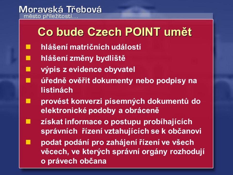 získání dotace na zavedení, příp.upgrade CzechPOINTu (PC + 2 monitory, barevná laser.