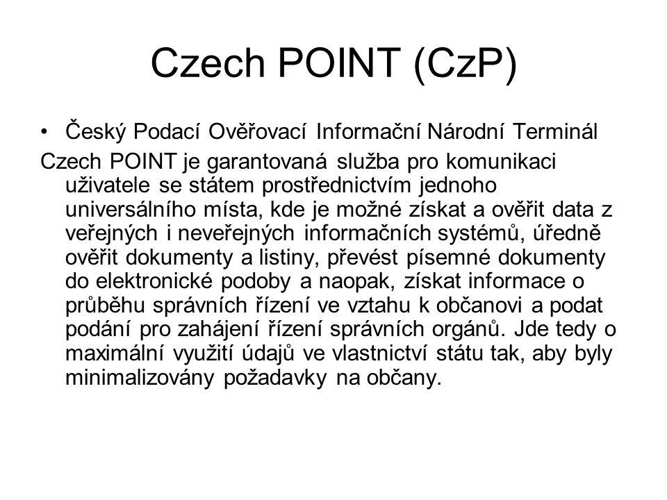 Co Czech POINT poskytuje.