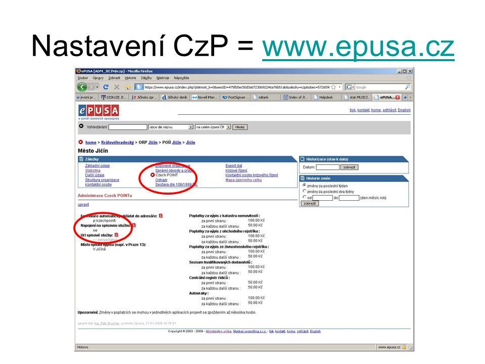 Nastavení CzP = www.epusa.czwww.epusa.cz