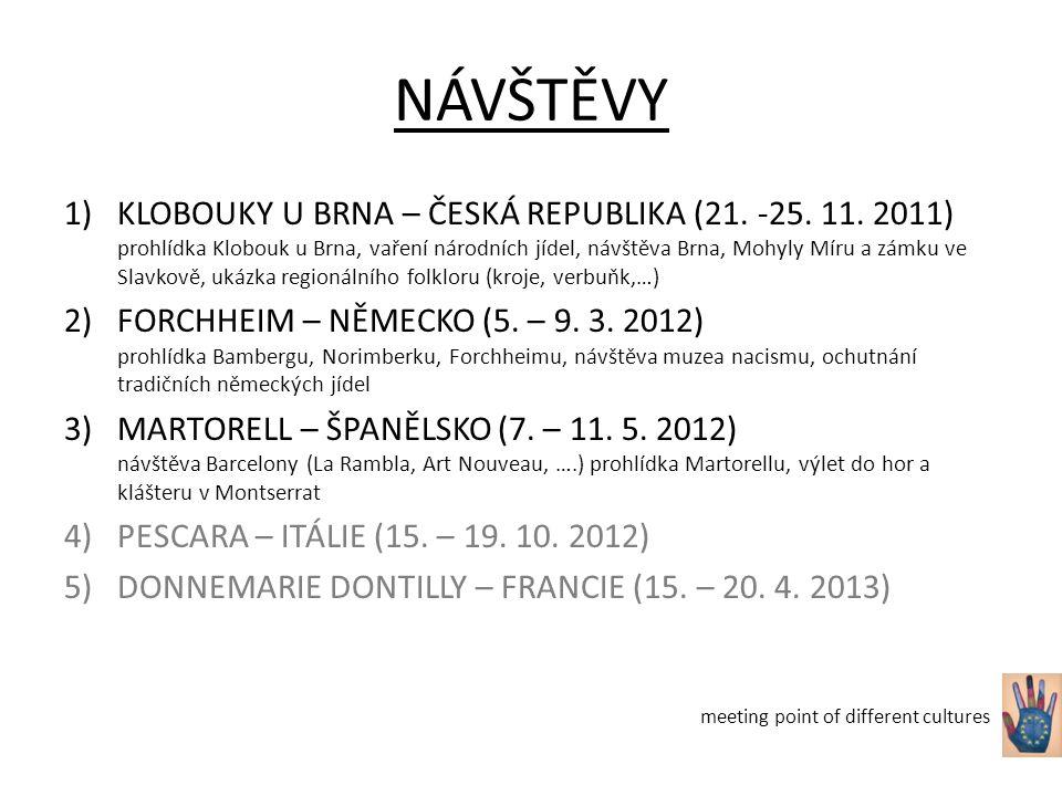 NÁVŠTĚVY 1)KLOBOUKY U BRNA – ČESKÁ REPUBLIKA (21. -25.