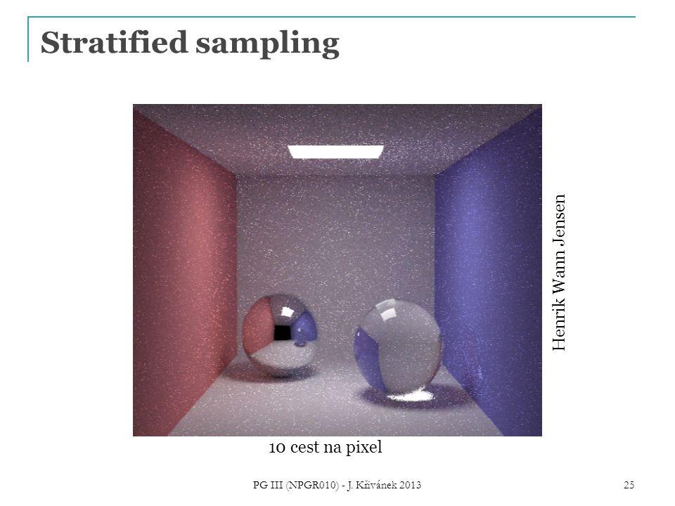 Stratified sampling Henrik Wann Jensen 10 cest na pixel PG III (NPGR010) - J. Křivánek 2013 25
