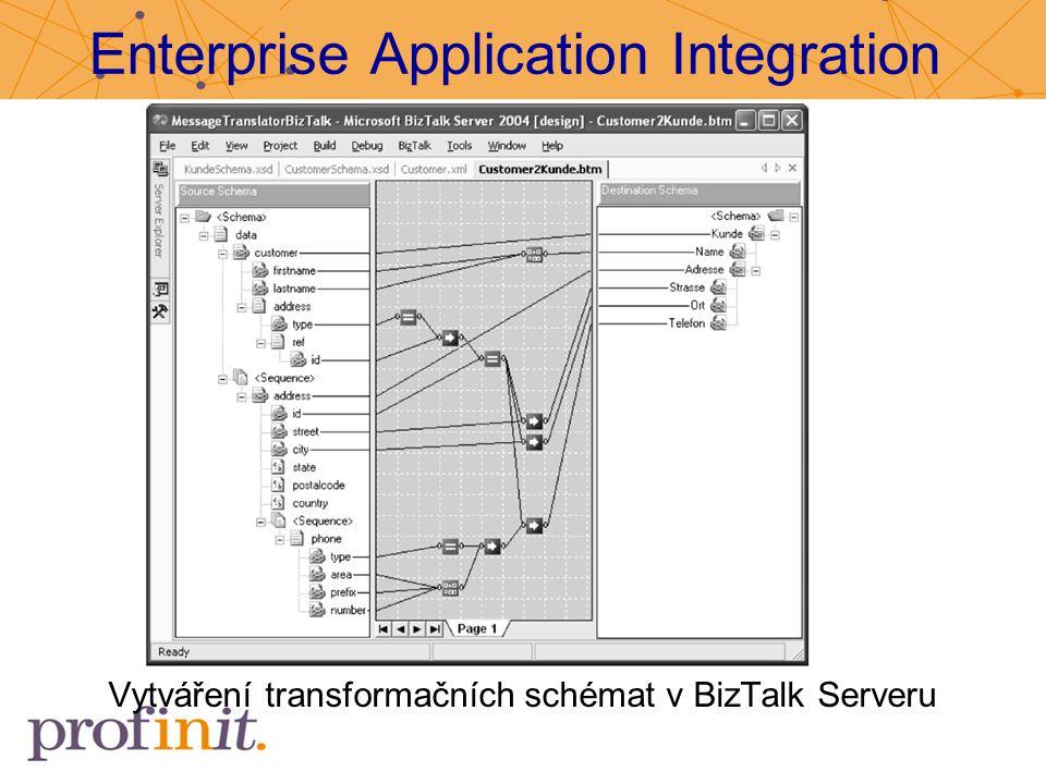 Enterprise Application Integration Vytváření transformačních schémat v BizTalk Serveru