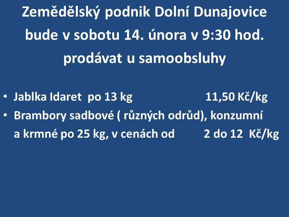 ZD Žatčany přijímá od vlastníků půdy objednávky na brambory a krmnou řepu do 14.