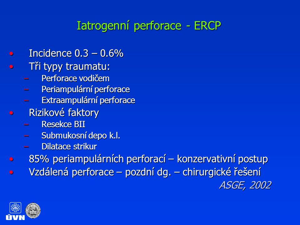 Perforace tenkého střeva při ERCP
