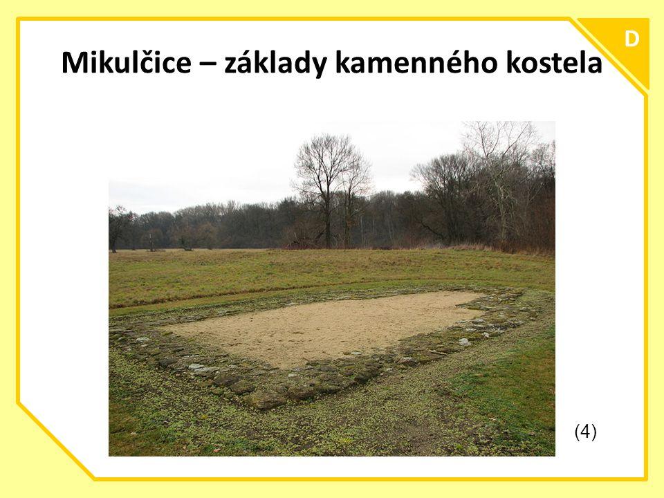 C D Mikulčice – základy kamenného kostela (4)