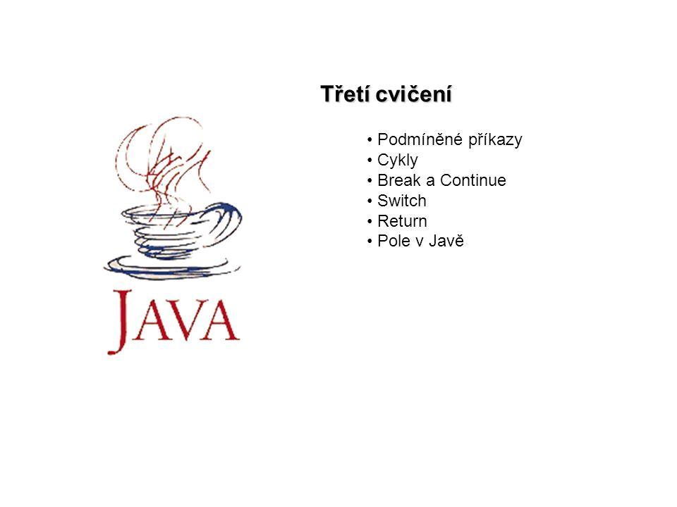 """Java cv22 Podmíněné příkazy syntaxe: if (bool_výraz) příkaz1; else příkaz2; větev """"else je nepovinná více příkazů nutno uzavřít do bloku """"else se vztahuje k nejbližšímu """"if"""