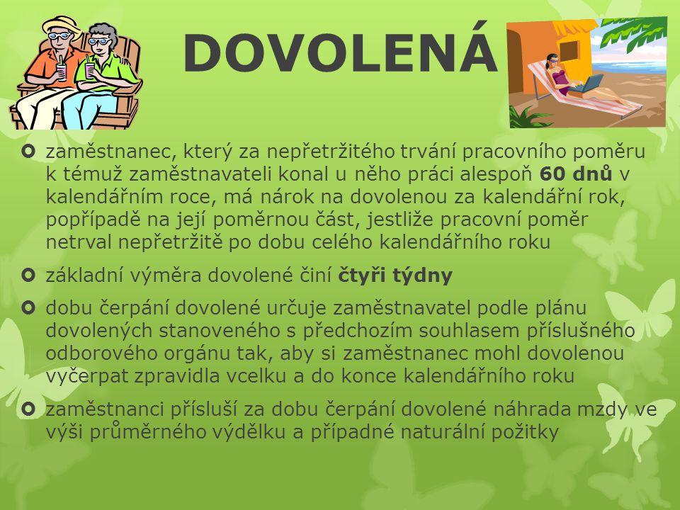 UKONČENÍ PRACOVNÍHO POMĚRU  zánik nebo změna pracovního poměru musí být prováděna vždy v souladu s ustanoveními zákoníku práce - ten pro české občany definuje celkem pět způsobů, jak může být pracovní poměr ukončen: 1) dohodou - jestliže se zaměstnanec se zaměstnavatelem dohodnou na rozvázání pracovního poměru, potom tento pracovní poměr končí dohodnutým dnem, musí být uzavřena písemně a musí v ní být uvedeny důvody rozvázání, jestliže to požaduje zaměstnanec 2) výpovědí 3) okamžitým zrušením - okamžitě, tzn.
