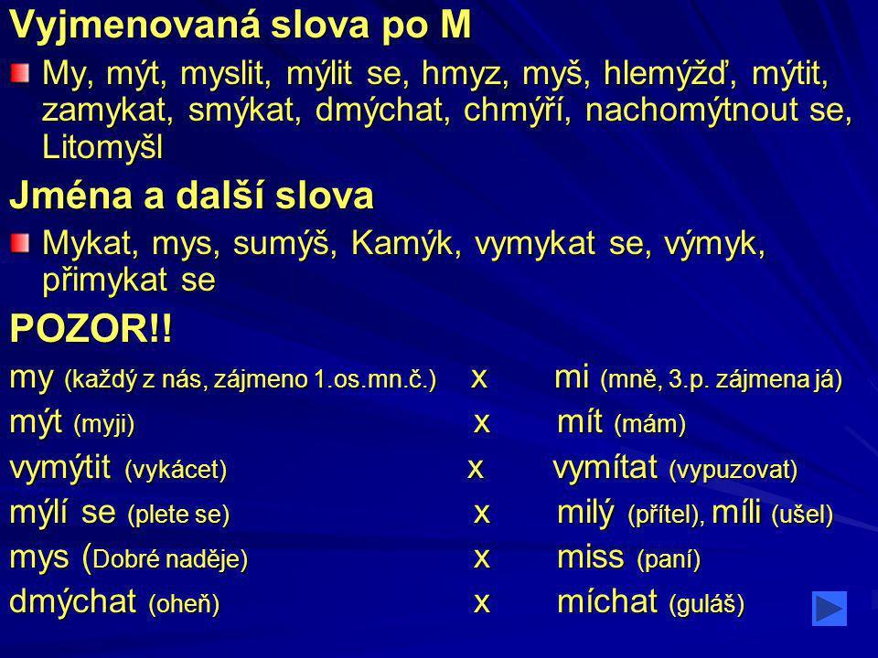 Vyber správné slovo Hle, myš! Hle, myš! Hle, miš! Hle, miš!