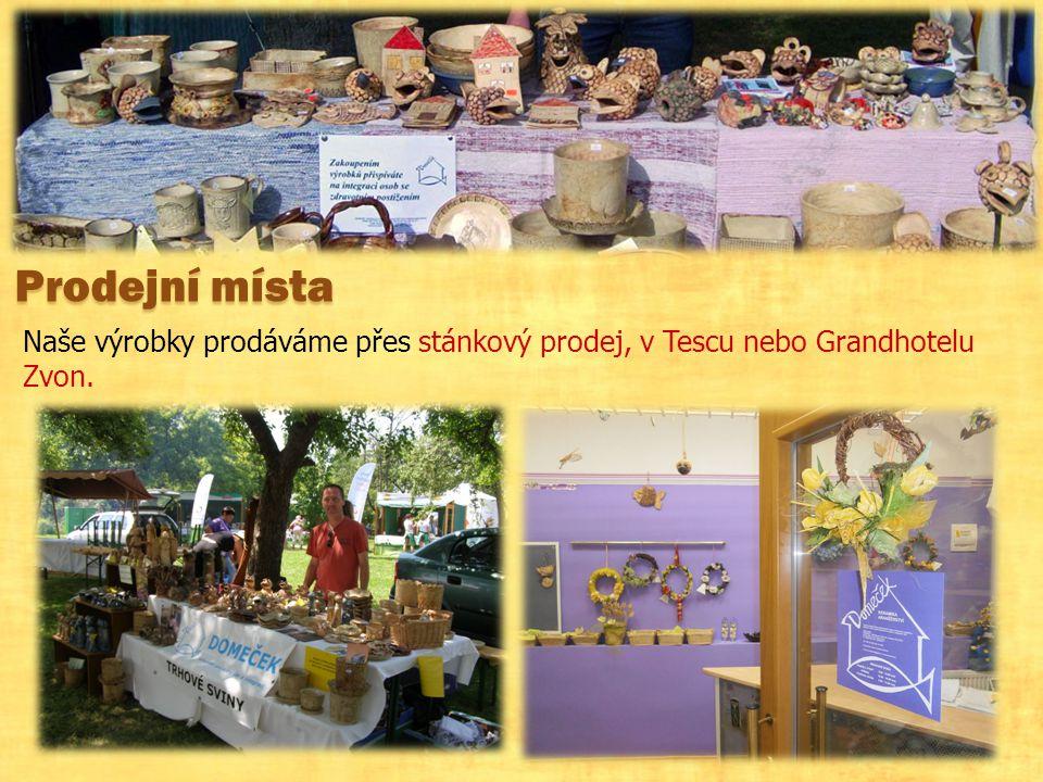 Prodejní místa Naše výrobky prodáváme přes stánkový prodej, v Tescu nebo Grandhotelu Zvon.