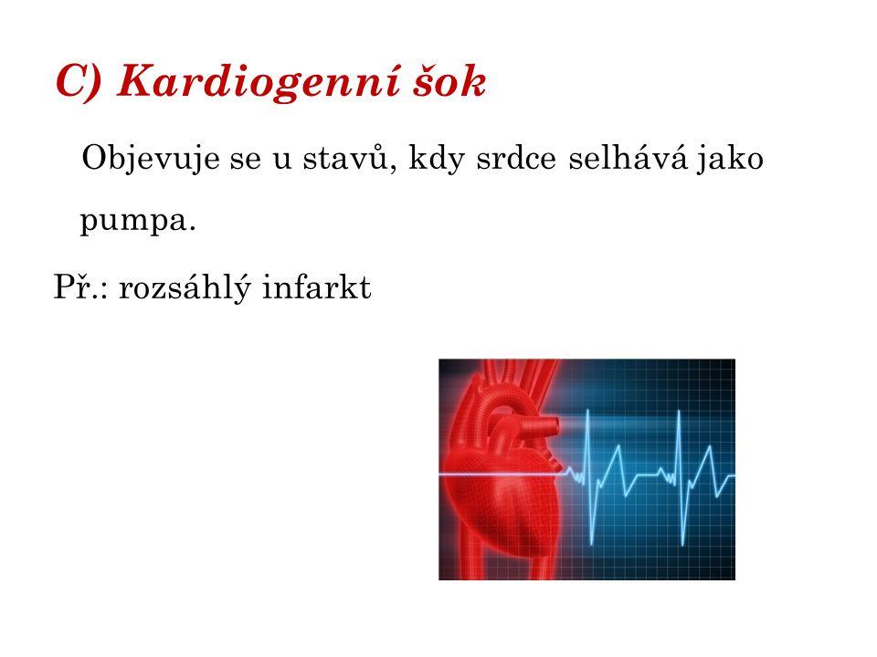 D) Neurogenní šok Porucha centrální nervové soustavy.