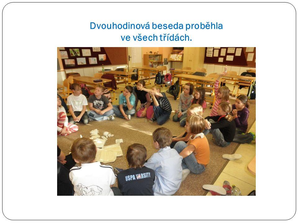 Dvouhodinová beseda proběhla ve všech třídách.