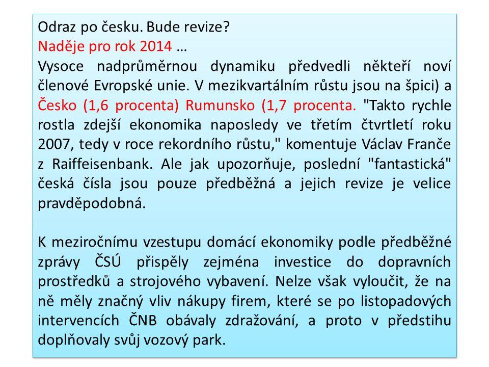 """Závěr: Zmíněná studie """"Doing Business 2013"""" prozrazuje, že ohledně podmínek v podnikání je Česká republika v rámci středoevropského regiónu až na úpln"""