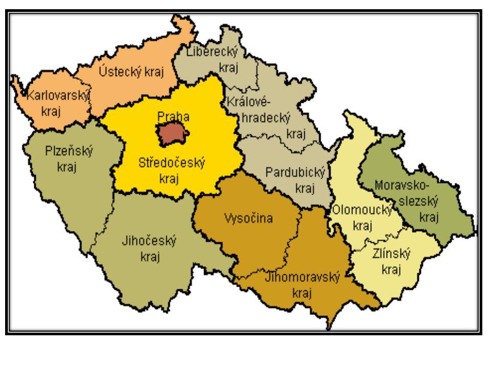 Vysočina se sídlem v Jihlavě, vymezený územím okresů Havlíčkův Brod, Jihlava, Pelhřimov, Třebíč a Žďár nad Sázavou; Jihomoravský kraj se sídlem v Brně