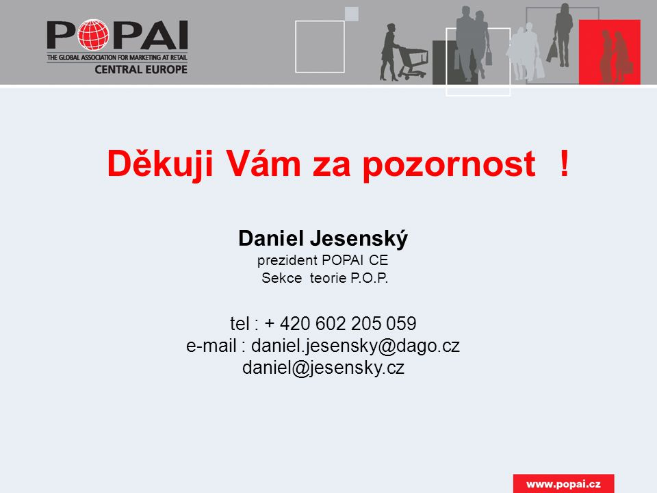 Daniel Jesenský prezident POPAI CE Sekce teorie P.O.P.