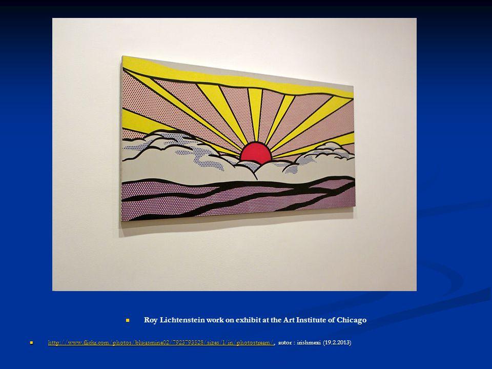 Roy Lichtenstein work on exhibit at the Art Institute of Chicago http://www.flickr.com/photos/blujasmine02/7923793528/sizes/l/in/photostream/, autor :