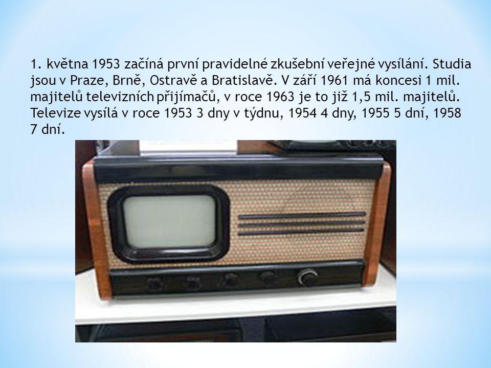 1.května 1953 začíná první pravidelné zkušební veřejné vysílání.