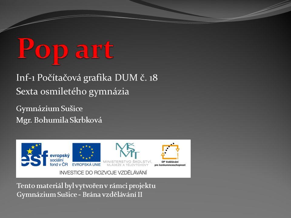 Umělecký směr - popular art (populární masové umění).